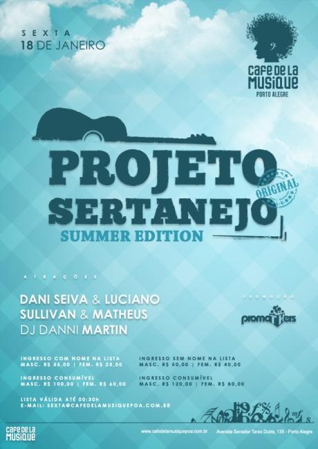 CDLM - Projeto Sertanejo - 18-01-2013 PREÇO